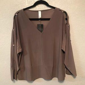 Marla Wynne Button Slit Blouse Size M